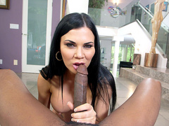 English Cleaning Lady Jasmine Jae Doesn't Shy Away From A Big Black Cock